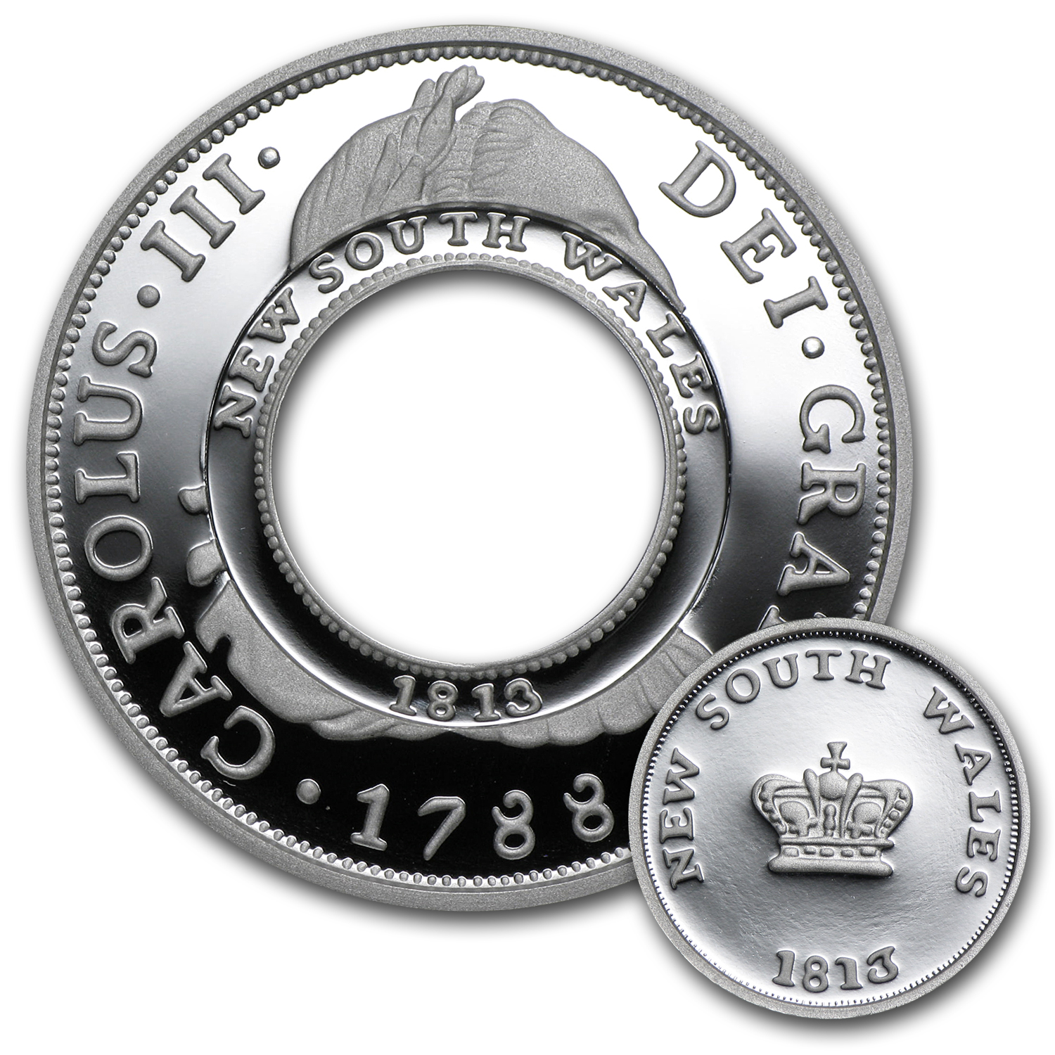 200th Anniv Australian Holey Dollar & Dump 1 oz Silver Proof Set